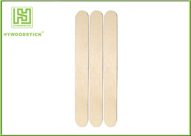 Thick Wooden Tongue Depressor CE Sterilized 150 X 18 X 1.6mm Size