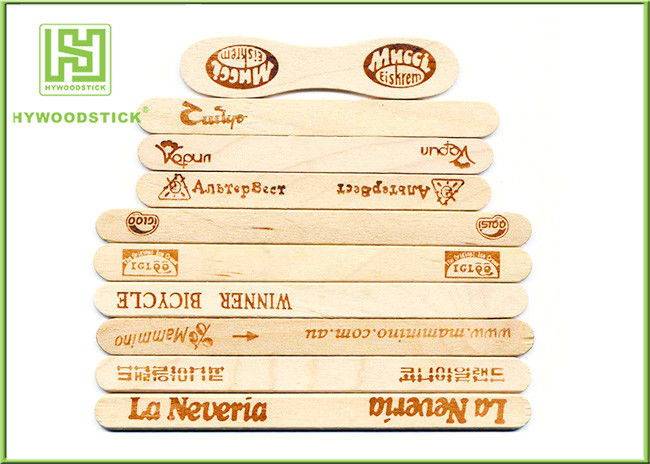 Personalized Natural Wood Sticks With Brand Logo 100mm - 300mm Length