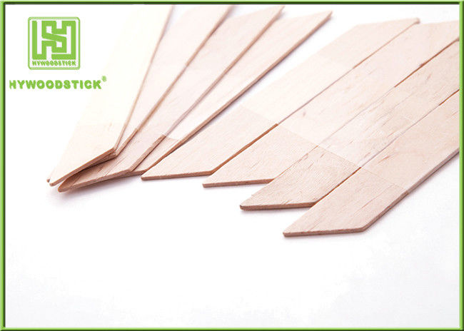 Biodegradable Small Wooden Spatula , Rhombus Shape Hair Removal Spatula