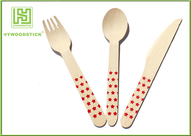 Premium Birch Disposable Eco Friendly Wooden Cutlery Fork Knife Spoon