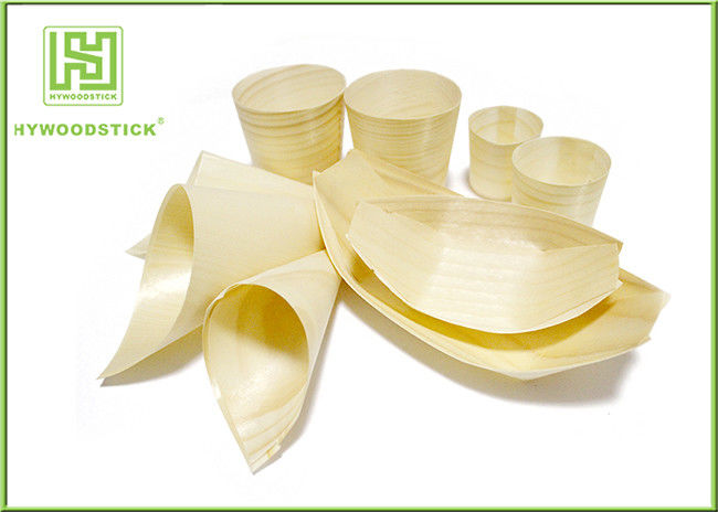 Wholesale Disposable Wooden Sushi Boat / Food Container for Food