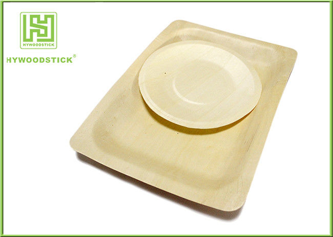 7 Inch Disposable Wooden Plates For Restaurant Use Fresh Fruit Tray 400pcs / Ctn